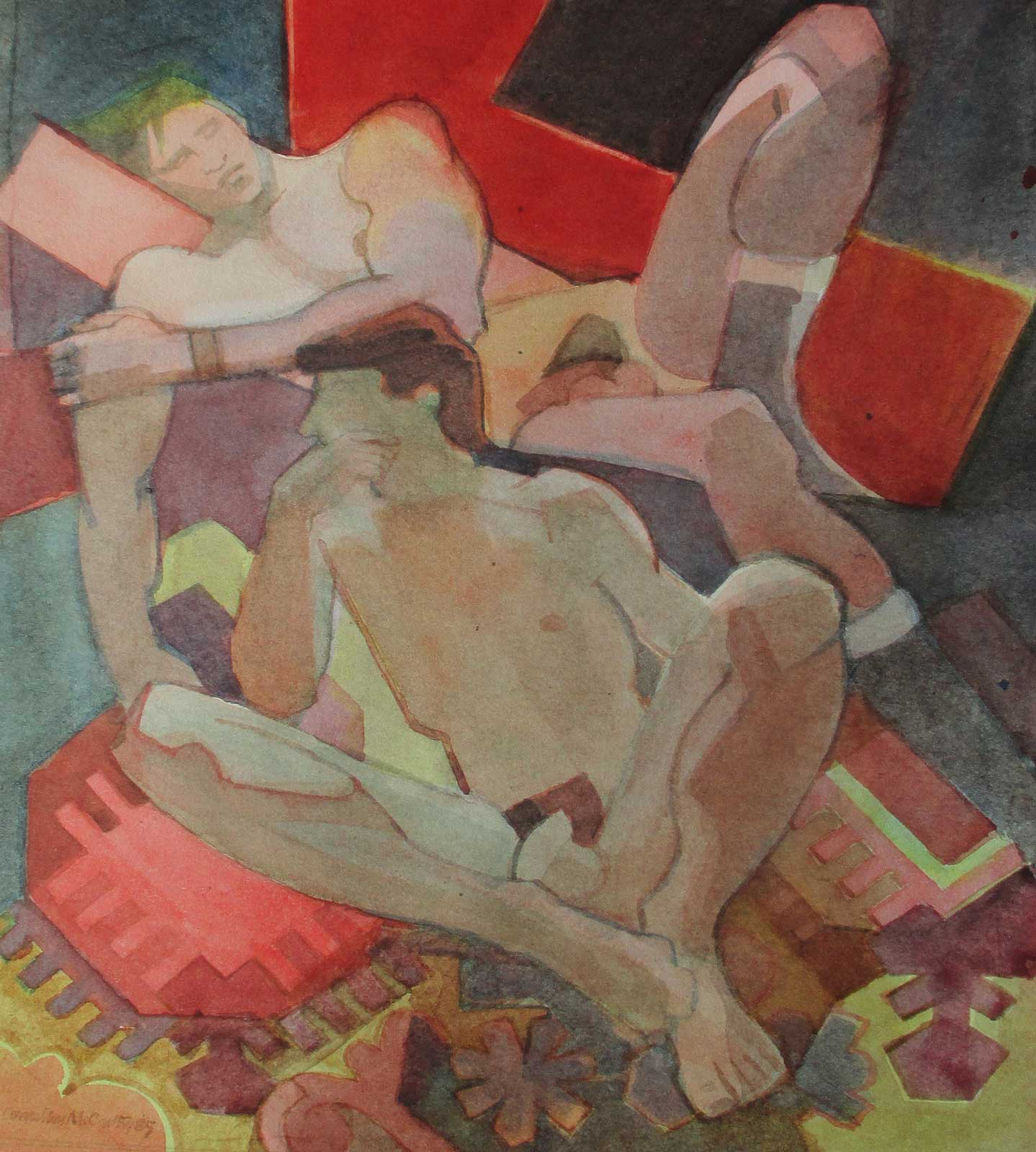 Unframed version Resting Nudes by Cornelius McCrarthy
