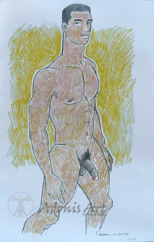 'Athletic Nude Stepping Forward' by Douglas Simonson
