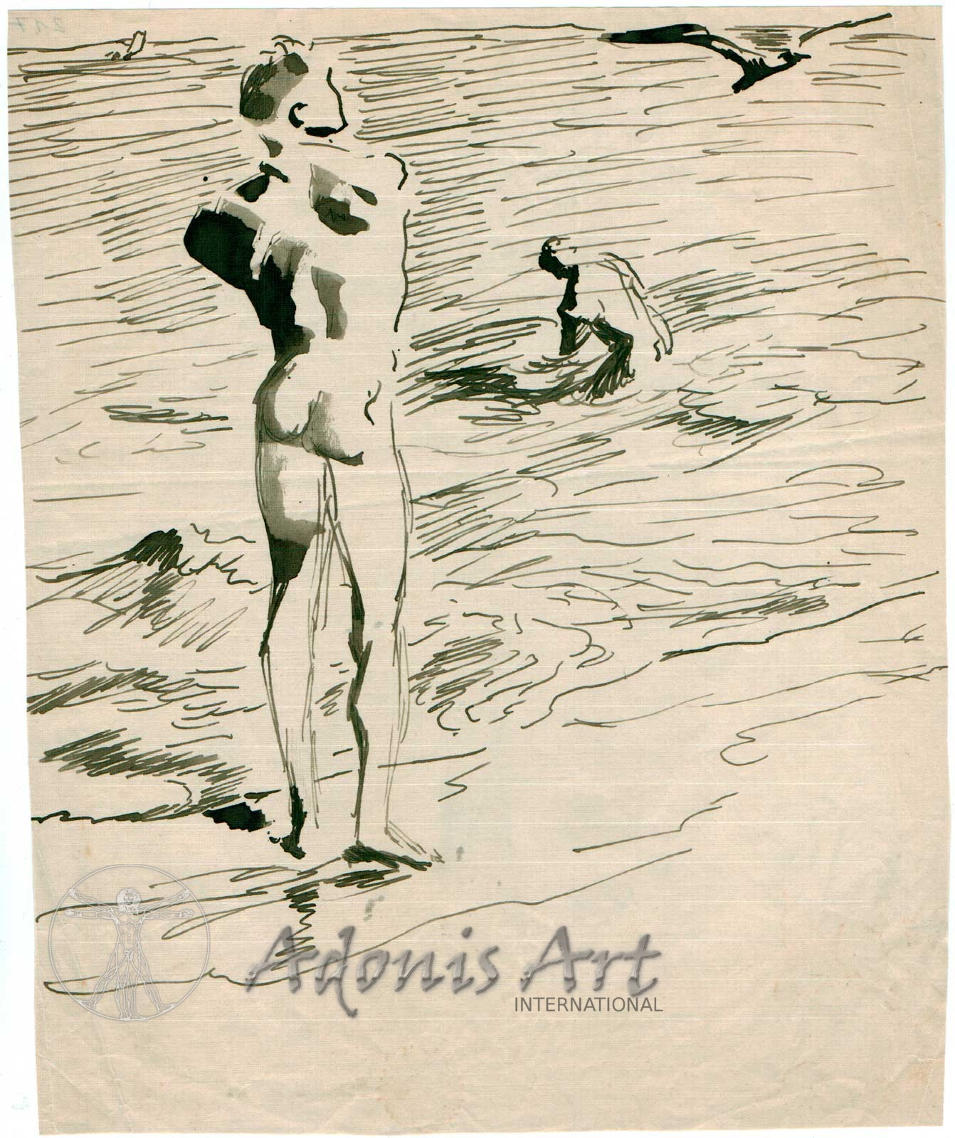 'Bathing at the Beach' by Wilhelm Heinrich Focke