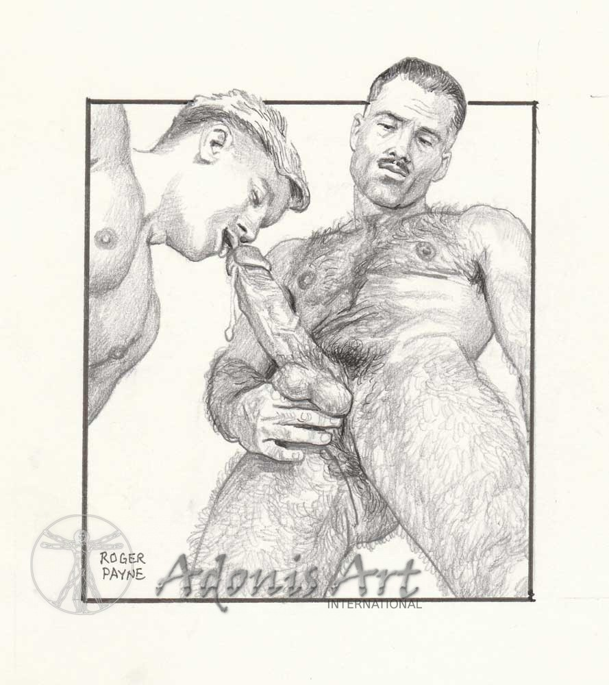 Erotic Drawing No. A102 by Roger Payne