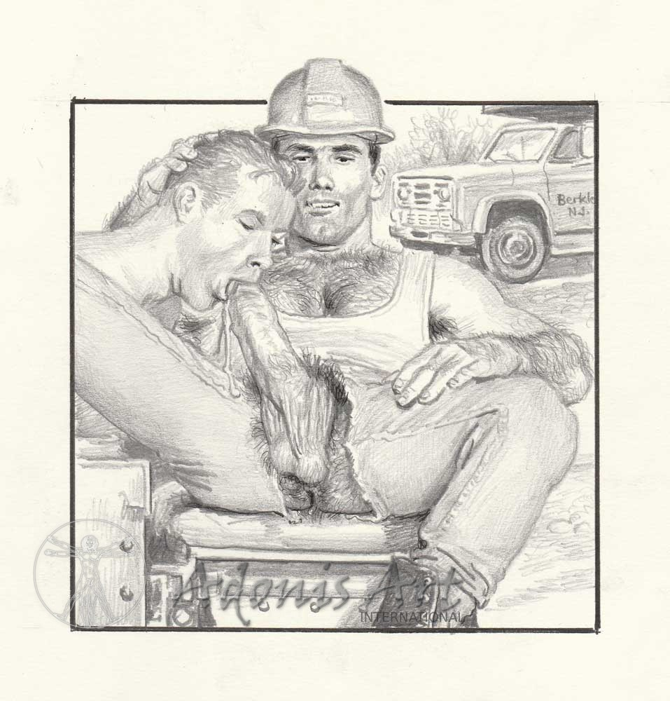 Erotic Drawing No. A103 by Roger Payne