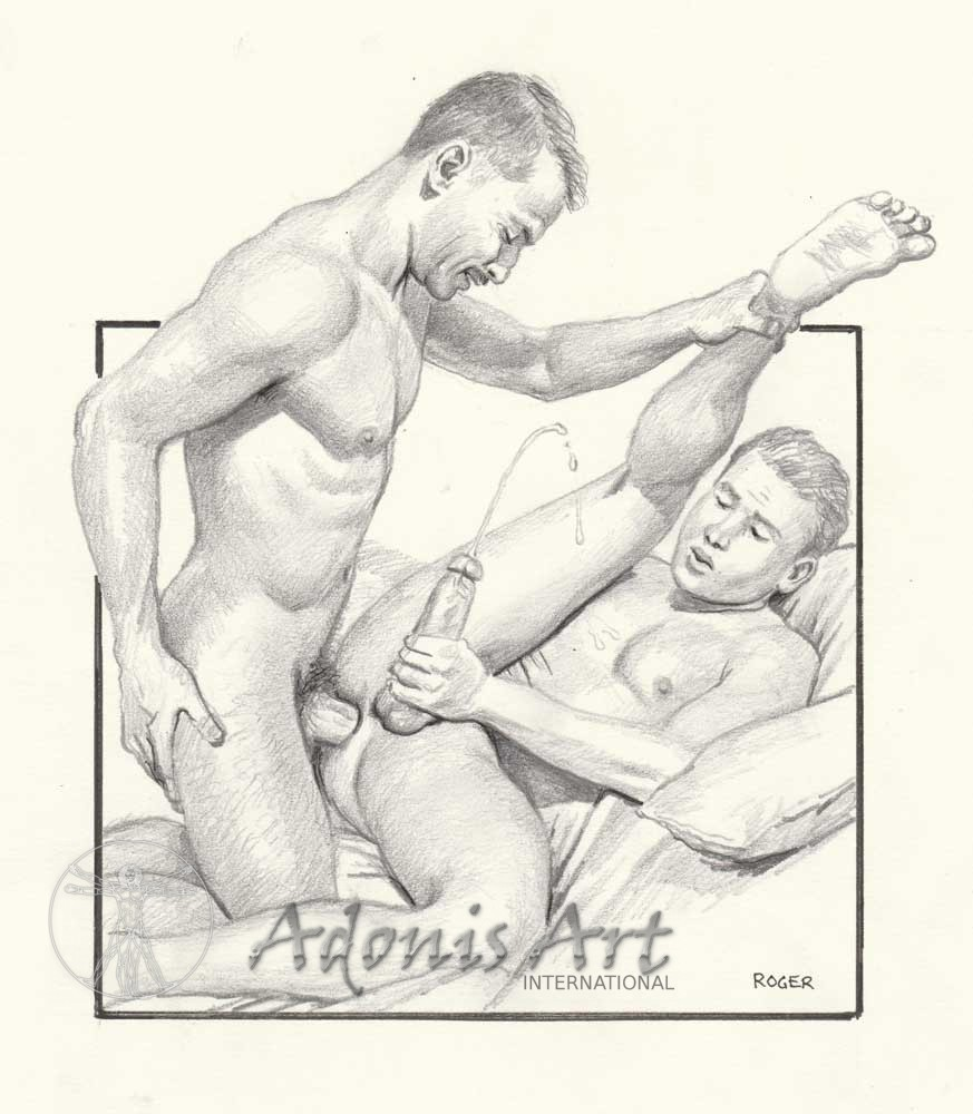 Erotic Drawing No. A131 by Roger Payne