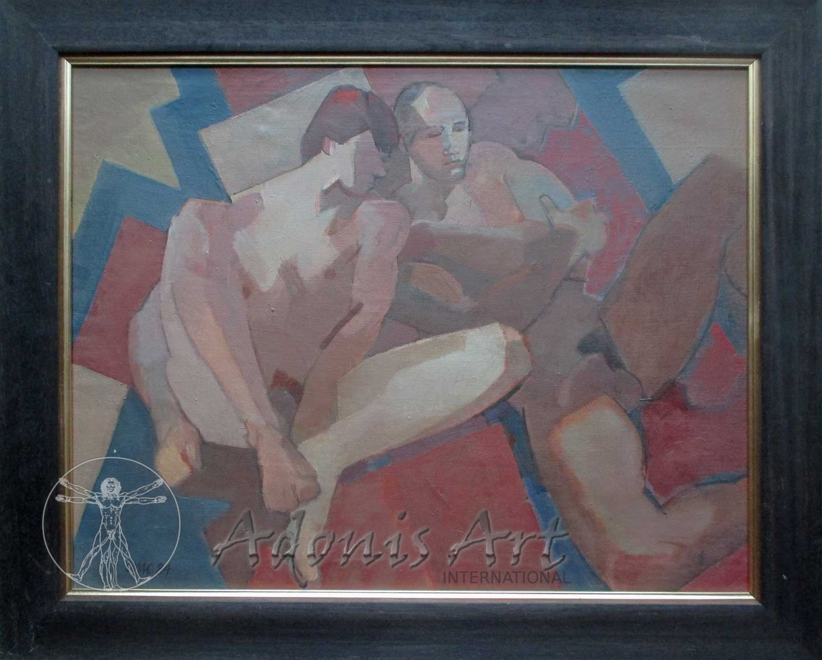 'Nudes on Red and Blue Cloth' by Cornelius McCarthy