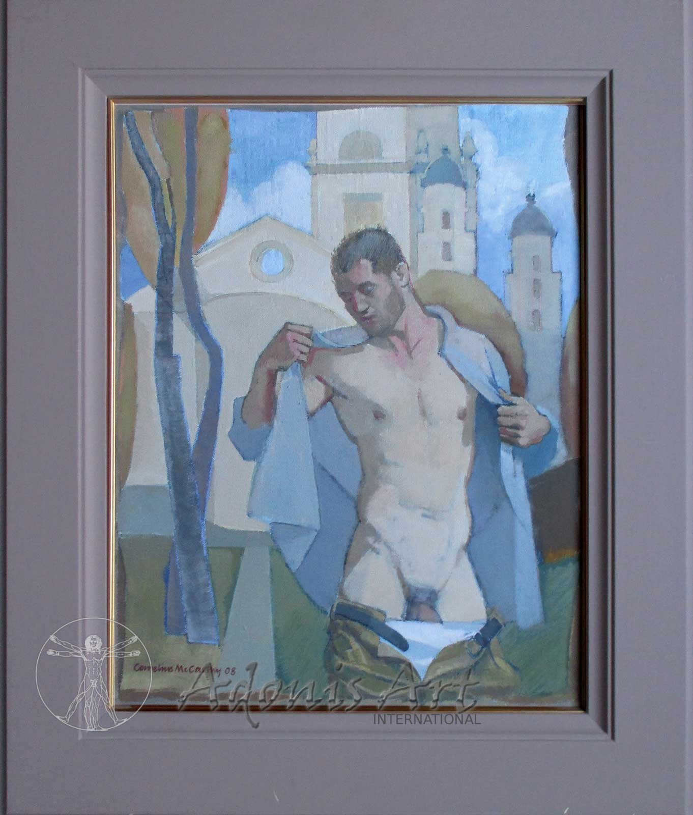 'Tabernacle - Jack Undressing' oil painting by Cornelius McCarthy