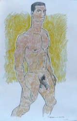 Thumbnail image: 'Athletic Nude Stepping Forward' by Douglas Simonson