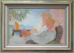 Thumbnail image: 'Gussy with her Son' by Peter Samuelson