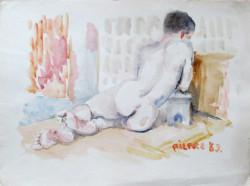 Thumbnail image: 'Back Nude Reclining' by Peter Samuelson