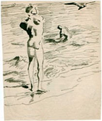 Thumbnail image: 'Bathing at the Beach' by Wilhelm Heinrich Focke