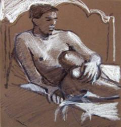Thumbnail image: 'Seated Nude' by Cornelius McCarthy