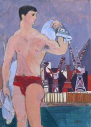 Thumbnail image: 'Dockland Swimmer' by Cornelius McCarthy