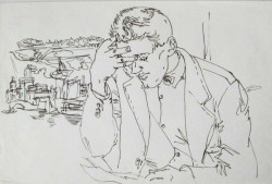 Thumbnail image: 'Michael Rothwell reading a Letter' by Peter Samuelson