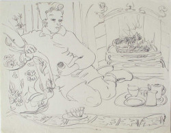 Thumbnail image: 'Tea and Biscuits by the Fire' by Peter Samuelson