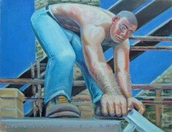 Thumbnail image: 'Roofer' by Peter John Davies