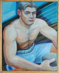 Thumbnail image: 'Rugby Lad' by Peter John Davies