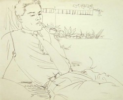 "Thumbnail image: ""Smoking in the Garden"" by Peter Samuelson"