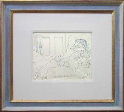 Thumbnail image: 'John the Shoemaker with Lisa my Dog' by Peter Samuelson
